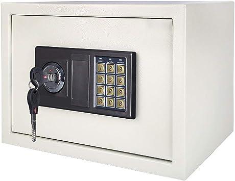 Oficina y papelería Seguridad pequeña alarma electrónica incorporada caja de seguridad blanca 38 * 30 * 30 cm 9-28: Amazon.es: Bricolaje y herramientas