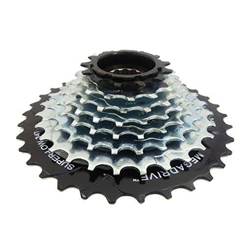 ZOOMPOWER 8 speed 8 gears freewheel sproket 13-34t spiral type screw type upgrade mountain bike 24 speed alternative of cassette by ZOOMPOWER