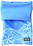 Sprigs Unisex Banjees 2 Pocket Wrist Wallet for Travel, Running, Hiking, Blue Surf, One Size Fits Most