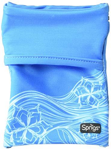 Sprigs Unisex Banjees 2 Pocket Wrist Wallet for Travel, Running, Hiking, Blue Surf, One Size Fits Most (Wallet Banjee Wrist)