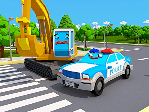 The Police Car and the Excavator