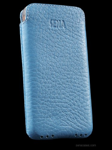 Sena Ultra Slim Leder Hülle iPhone 4 Tasche - Blau