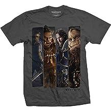 World of Warcraft Men's Character Slice Charcoal T-shirt Dark Grey