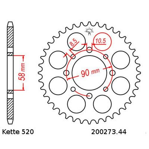 Kettensatz Honda XL 125 V 01-13 offen Kette DID 520 L110 14 // 44