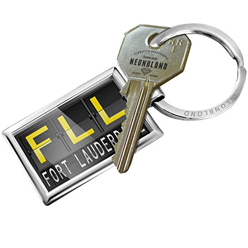 Keychain FLL Airport Code for Fort Lauderdale - - Airport Lauderdale Fort