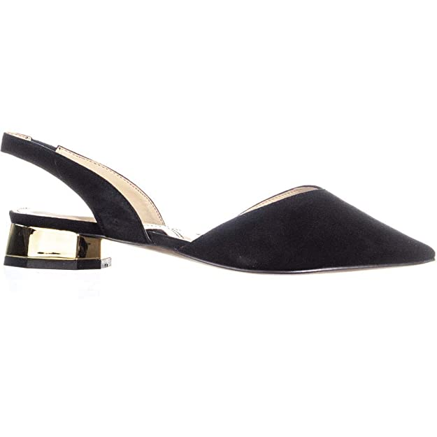 dbad0a50a Amazon.com | ADRIENNE VITTADINI Franny Pointed Toe Sling Back Sandals,  Black, 5.5 US | Shoes