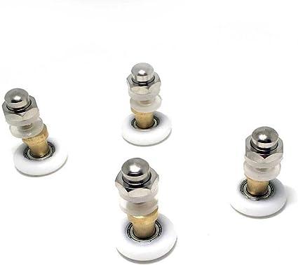 Rodamientos para mampara de baño de 20 mm, 8 unidades: Amazon.es: Bricolaje y herramientas
