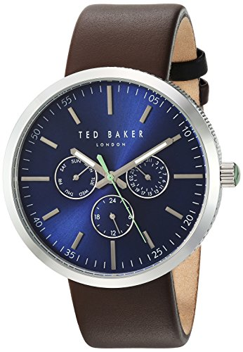 Ted Baker Men's 'JACK' Quartz Stainless Steel and Canvas Dress Watch, Color Brown (Model: 10031500)