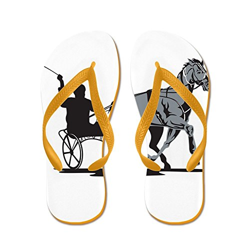 Cafepress Paard En Jockey Harnas Racen - Flip Flops, Grappige String Sandalen, Strand Sandalen Oranje