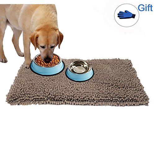 Puppy Rug - Dog Rug Mud Free Pet Mat For Floor Non Slip Gog Mats Absorbent Pet Mat For Dog, Puppy And Cat - Exrta Thick Microfiber Pet Mats For Food And Water & Crates, Kennel 31
