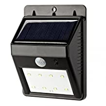 VersionTech Outdoor LED Lights Solar Powered for Patio, Deck, Yard, Garden, Home, Driveway, Stairs, Outside Wall - Weatherproof / Motion Sensor-Detector Activated / Wireless Exterior Security Lighting / Dusk to Dawn Dark Sensing Auto On & Off