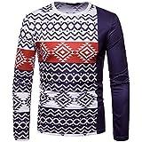 kaifongfu Long Sleeve Round Neck Top Men African 3D Print Sweatshirt Top