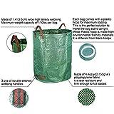 Gardzen 2-Pack 132 Gallons Gardening Bag with