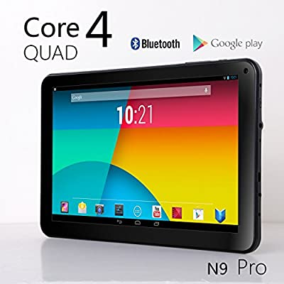 NeuTab N9 Pro 9'' Quad Core Google Android 4.2 Jelly Bean Tablet, 8GB, Quad Core CPU & GPU, Bluetooth 4.0, Radio FM, HD Dual Camera, Google Play Pre-loaded, 3D-Game Supported