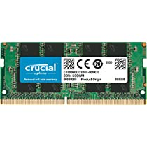 Offerte speciali su Crucial CT8G4SFS824A Memoria da 8 GB, DDR4, 2400 MT/s, PC4-19200, Single Rank x8, SODIMM, 260-Pin e molto altro