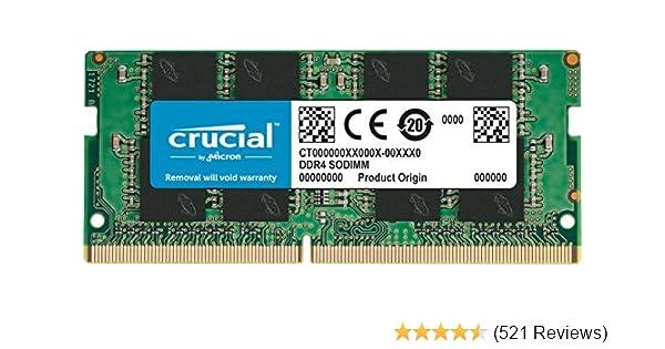 Crucial 8GB Single DDR4 2133 MT/s (PC4-17000) DR x8 SODIMM 260-Pin Memory - CT8G4SFD8213