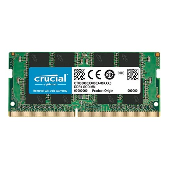 Crucial 16GB Single DDR4 3200 MT/S (PC4-25600) CL22 DR X8 Unbuffered SODIMM 260-Pin Memory - CT16G4SFD832A 51esjcOy79L. SS555
