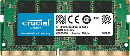 (Crucial 16GB Single DDR4 2400 MT/s (PC4-19200) DR x8 SODIMM 260-Pin Memory - CT16G4SFD824A)