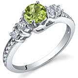 Peridot Solstice Ring Sterling Silver Size 6