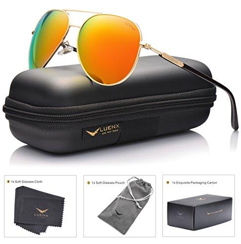 luenx-womens-aviator-sunglasses-polarized-with-case-uv-400-protection-orange-lens-gold-frame-60mm