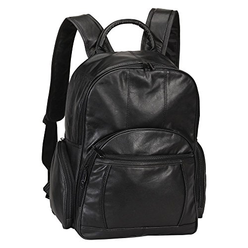 Bellino Leather Laptop Backpack (Black) (Bellino Leather Backpack)