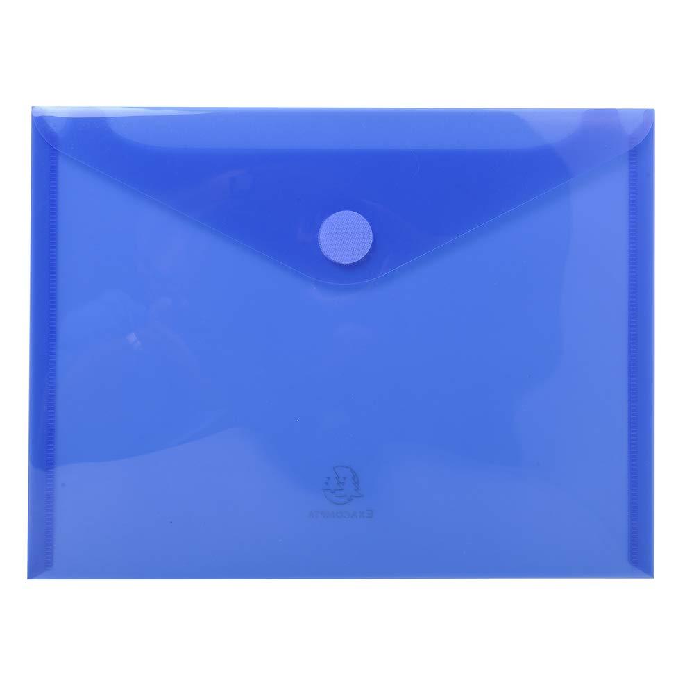 Exacompta 56720e –  Confezione di 5 cartelline con chiusura in velcro formato A5 24 x 18 colori assortiti