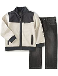 Calvin Klein Boys' Jacket with Jeans Pants Set