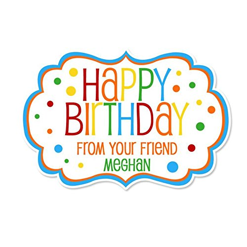Image Unavailable Not Available For Color Personalized Customized Happy Birthday Gift Stickers