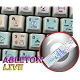 ABLETON LIVE GALAXY SERIES NEW KEYBOARD STICKERS SHORTCUTS 12X12 SIZE by 4Keyboard