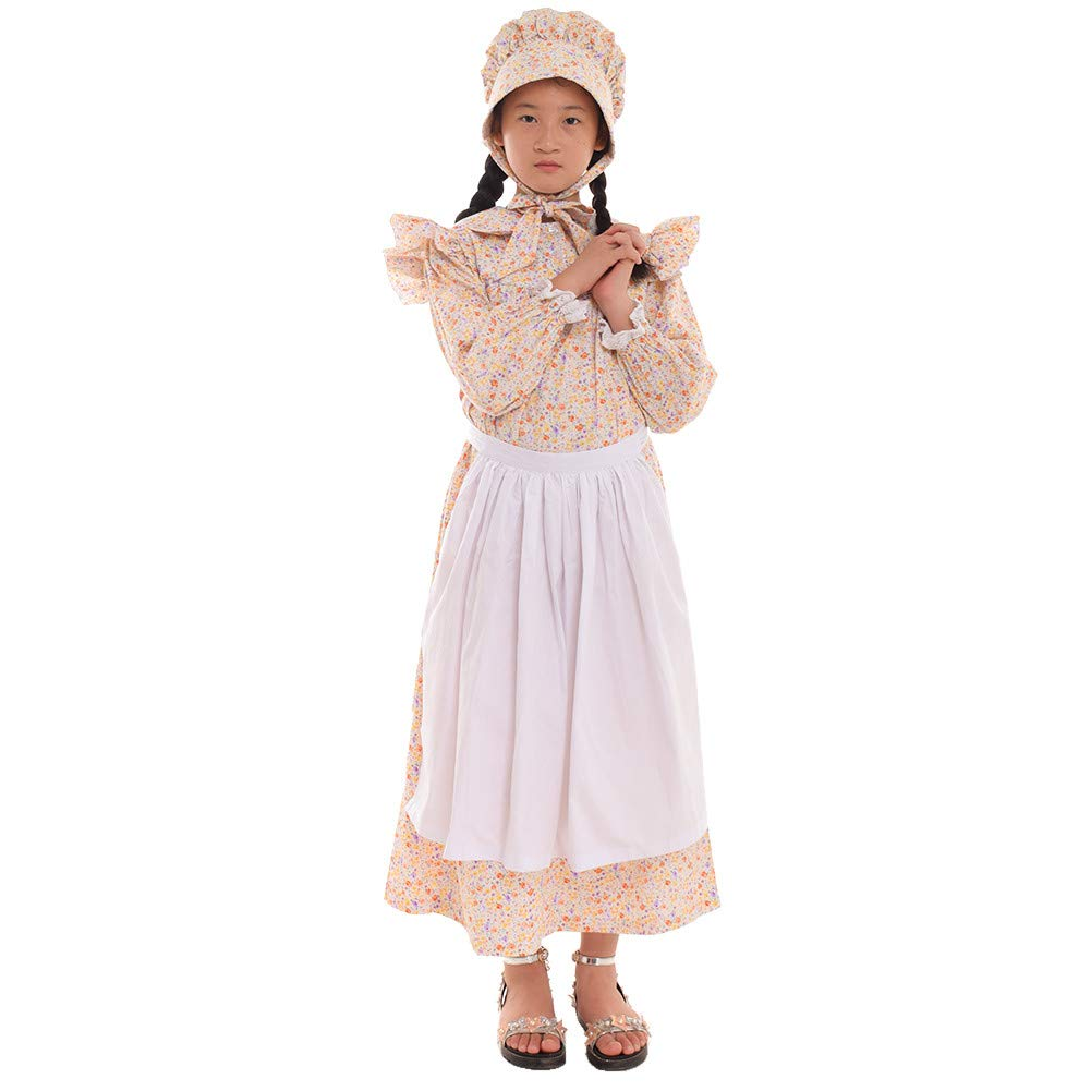 Victorian Kids Costumes & Shoes- Girls, Boys, Baby, Toddler GRACEART Girls American Pioneer Colonial Costume Prairie Dress 100% Cotton (4 colors option) GRACEART Girls  $48.99 AT vintagedancer.com