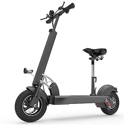QSBY Luz LED 10 Pulgadas Scooter eléctrico 50-60 KM 500W de ...