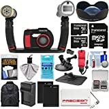 SeaLife DC2000 HD Underwater Digital Camera with Sea Dragon Pro Duo Light & Flash Set + Wide Angle Lens + 2 64GB Cards + Batteries & Charger + Backpack Kit