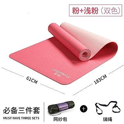 YOOMAT 6mm Single / Double Tpe couleur professionnel Hommes et femmes débutants pour élargir un tapis de yoga antidérapant pour tapis matelas
