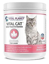 Vital Planet - Vital Cat Powder - Full Spectrum Vitamins for Cats - 30 Servings