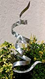 All Natural Silver Freestanding Sculpture Handmade Indoor/Outdoor Sculpture – Modern Metal Sculpture – Yard Art, Garden Art, Outdoor Decor Sculpture – Silver Twist By Jon Allen For Sale