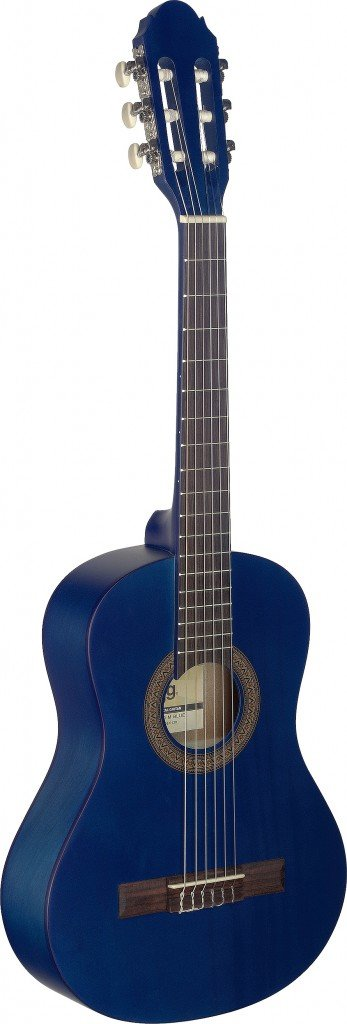 Stagg 6 String C410 M Blue 1/2 Size Classical Guitar-Natural