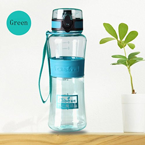 Anshinto Portable Water Bottle Hiking Cycling Water Drinking Bottle Cup 450ML/600ML (F, 600ml)