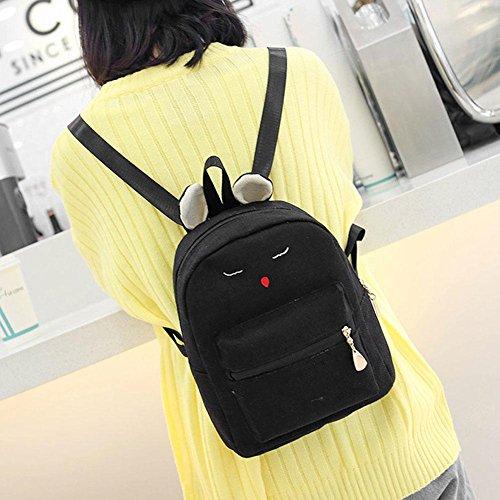 Clutch Composite Bags Aediea Bag 3pcs Linen Backpack Set Black Crossbody wqvv16XY