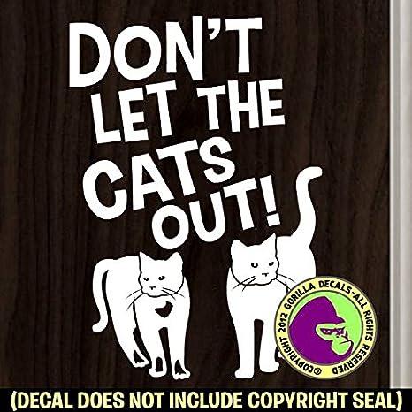 Amazon.com: No Dejes Que El gatos del símbolo de puerta ...