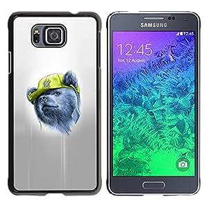 KLONGSHOP // Cubierta de piel con cierre a presión Shell trasero duro de goma Protección Caso - Gangsta Oso - Samsung ALPHA G850 //