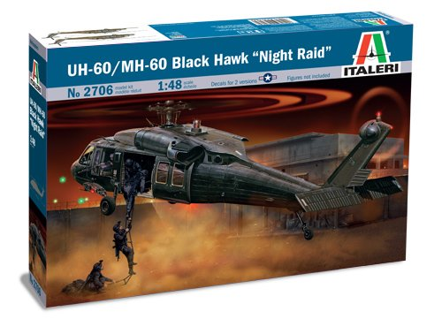 - Italeri 510002706- 1:48 UH-60A Black Hawk Night Raid