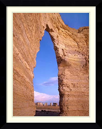 (Framed Wall Art Print | Home Wall Decor Art Prints | Arch in Monument Rocks National Landmark, Kansas by Tim Fitzharris | Modern)