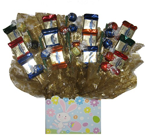 Deluxe Gourmet Candy Bouquet in an Easter Peter Cottontail box