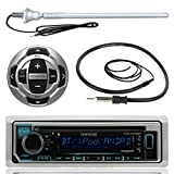 kenwood electronics - Kenwood MP3/USB/AUX Marine Boat Yacht Stereo Receiver CD Player Bundle Combo w/ RC35MR Wired Remote Control,  Enrock Water Resistant 22