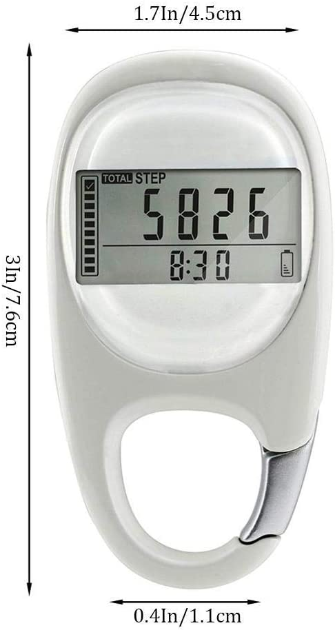 3D Digital Pedometer with Clip Accurately Track Steps and Miles//Km Calories Burned /& Activity Time 7 Days Memory Maizad Simple Walking Step Counter for Men Women Kids