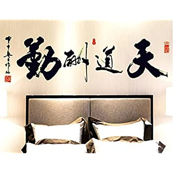 AmaonmR Removable Glow In The Dark Chinese Words Wall Decals Luminous Light Inspirational Quotes