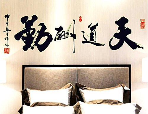 Chinese Decal - Amaonm® Removable Glow in the Dark Chinese Words Wall Decals Luminous Light Inspirational Quotes Wall Stickers Murals Home Art Decor for Living Room Classroom Offices