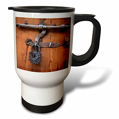 3dRose Danita Delimont - Architecture - Spain, Balearic Islands, Mallorca, door bolt and lock. - 14oz Stainless Steel Travel Mug (tm_277913_1) by 3dRose