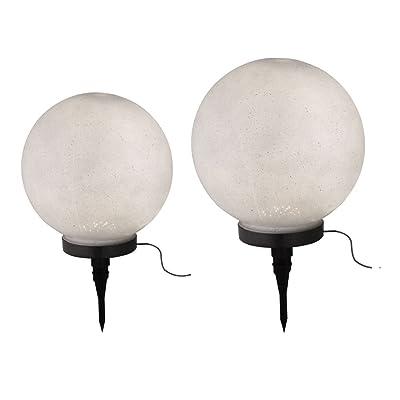 2x LED lampes solaires plug terre spike spot extérieur cour balles lumières pierre optique
