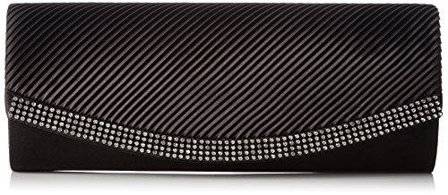 with and Clutch Berydale Rhinestones Satin Schwarz Black Additional Chain Women's nUgU74xX